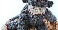 Classic Brown Twist Sock Monkey Hat and doll PDF Crochet Pattern