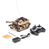 DAFENG 1014/15/16/17 T90 M1A2 1/32 27MHZ Rc Car Silmulation Battle Tank w/ Engine & Cannon Sound