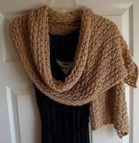 On a chilly night, a light wrap is all you need to keep yourself warm and give your outfit a dignified element. This Elegant Evening Shawl will be a joy to make and wear.