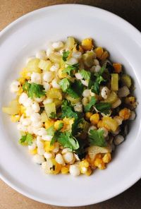 Hominy with Cilantro and Lime
