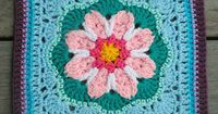 """Tussy-Mussy 12"""" square, free pattern by by Rebecca Bisbing"""