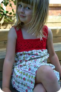 Crochet top dress free pattern by The green Dragonfly