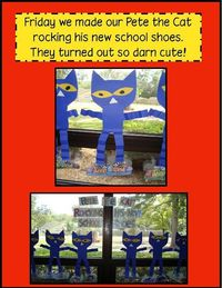 Pete the Cat rockin his school shoes