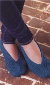 KNITTED SLIPPERS-KNITTING PATTERN