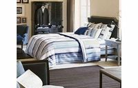 Yves Delorme Col Monte Bedding Fitted Sheet King Col Monte is a luxurious range of bedding from Yves Delorme. Featuring bold woven stripes printed on 100% Percale Cotton the collection would make an ideal addition to any bedroom. http://www.comparesto...