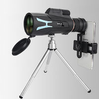 Moge 20-60x60 Zoomable Monocular HD Lens Optical Telescope With Phone Clip Tripod Camping Travel