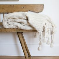 Trestles Antique White Throw $184.00