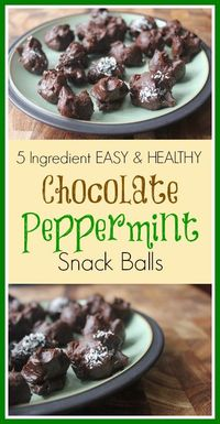 Today's yummy and easy chocolate peppermint snack balls recipe comes courtesy of Krista from Food Sa...