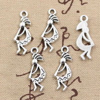 Pack of 20 Kokopelli Charms. Different Colours. Native American Flute Player Fertility Deity Pendants £8.99