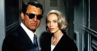 Cary Grant and Eva Marie Saint in NORTH BY NORTHWEST (1959). Directed by Alfred Hitchcock.