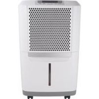 The Frigidaire Energy Star 70-pint Dehumidifier protects your home from mold and mildew caused by excess moisture. It also helps eliminate bacteria in the air that can make breathing difficult. Frigidaire's 50 pints-per-day dehumidifier is capable o...