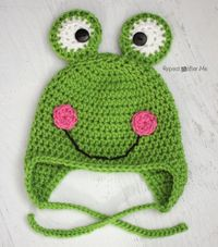 Crochet Frog Hat by