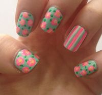 Colorful Print Nail Ideas #paint #nails