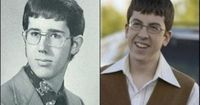 GOP presidential hopeful Rick Santorum's high school portrait found its way to the Internet recently, and the people at