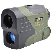 OPTECK 6X HD 1000m Digital Night Vision Telescope LED Laser Distance Monocular Transmitter Scope Rangefinder for Golf Outdoor Hunting