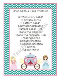 Once Upon a Time Printable from Preschool Printables on TeachersNotebook.com (19 pages)
