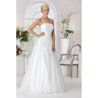 Style 9187 by Très Chic - Satin Tulle Floor Strapless A-Line Ballgown Wedding Dresses - Bridesmaid Dress Online Shop