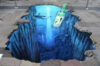 3D Art is one of the most incredible forms of street art. Here, we are going to talk about the most interesting 3D Street Art paintings as it look as real. The