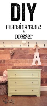 DIY Pottery Barn Kids Knockoff Changing Table or Dresser - LOVE this!