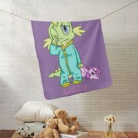 Personalized Baby Dinosaur Baby Blanket