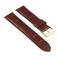 Genuine Black Leather Crocodile Grain Universal Band 16mm 18mm 20mm 22mm 24mm Polished Steel Buckle Watch Strap $38.99