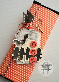 Reverse Confetti | Spooky Cuties, Spooky Sentiments, Lighthearted Letters | Halloween Tag, Halloween Treat