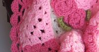 Pink Gingham Granny Square Baby Blanket