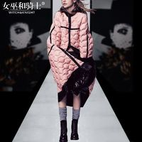 2017 winter clothes new high-end fashion slim fit simple long section padded Coat Jacket Womens - Bonny YZOZO Boutique Store
