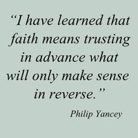I think about this all the time. Things don't always make sense to us, but if you look back, it all falls into place the way it should =). Have faith always and trust in God to lead you in the direction you should go--for every thing big and small...
