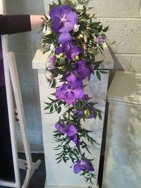 Versatile purple bridal flowers can play a cheerful or a dramatic role in your wedding.