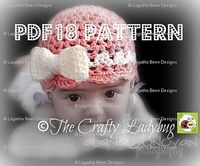 Ravelry: Bow beanie hat pattern by Lagatha Been $