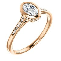 0.50 Ct Oval Diamond Engagement Ring 14k Rose Gold $1166.06