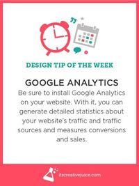 Design Tips: Google Analytics