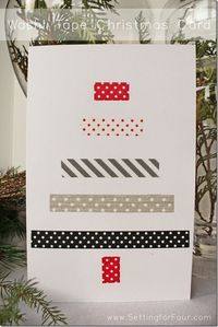 Learn how to make an easy DIY Washi Tape Christmas Card with a fun washi tape Christmas tree design! See the DIY craft project tutorial!