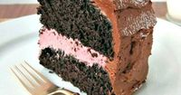 Dark Chocolate Cake with Raspberry Cream Filling (maybe change the frosting recipe to a chocolate mousse?)
