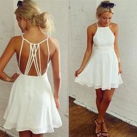 Backless Loose Swing Club Mini - COCKTAIL Dress kr19.00