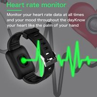 Smart Watch 116 Plus Wristband Fitness Blood Pressure Heart Rate Android Pedometer D13 Waterproof Sports Smart Watch Band $15.95