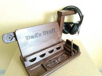 IPad iPhone iWatch headphone stand | IPhone wood holder | Wooden dock station | Apple watch | AirPods iPen charger | Glasses | Dad's stuff $93.00