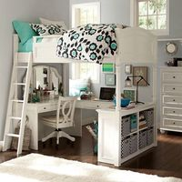 Chelsea Vanity Loft Bed | PBteen *this would've been a dream come true if I had this room as a teenager....still would love it now!!!