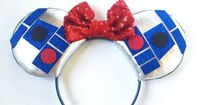 R2D2 Star Wars Ears R2D2 Disney Inspired Ears by ToNeverNeverland