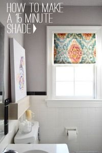 How To Make A Fifteen Minute DIY Window Shade   Young House Love
