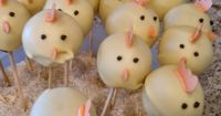 The Handy Chic and her Projects: Easter Chick Cake Balls