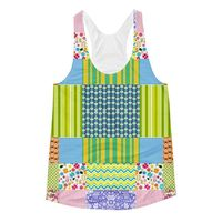 Exclusively from And Above All YOGA --- �€œCrazy Quilt�€ Women's Racerback Tank Top for just $34.00 with FREE SHIPPING