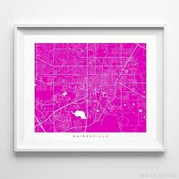 Gainesville, Florida Street Map Horizontal Print by Inkist Prints - Available at https://www.inkistprints.com