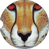 2 Absorbent Car Coasters, Cheetah, Car Accessories for her, Auto Coaster, Coaster, Cup Holder Coaster, Gift For Her, For Him $14.00