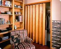 Woodfold is one company that sells the Series 140 accordion doors.