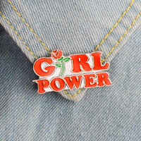 Pack of 2 Girl Power & Feminist Brooch. Female Empowerment Metal Pins £7.99
