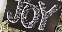 """Joy Holiday Chalkboard Cards �€"""" Set of 8 