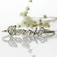 3D Carrie Name Bracelet Sterling Silver Personalized 3D Name Bracelet Unique 3D Bracelet with Name Special 3D Jewelry $67.19