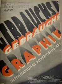 Gebrauchsgraphik or 'Commercial Arts' magazine was a German design and graphics publication founded in 1923 by Professor H. K. Frensel.